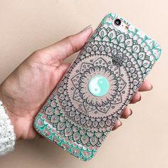 Steph Okits X Milkyway Cases 'Yin Yang Mandala' Clear TPU Case Cover