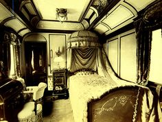 Royal Train Sleeper car by Curious Expeditions, (via Flickr) From the Budapest Transport Museum