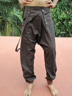 ursprüngliche ethnische Männer in braun Baumwolle von ibogaskin