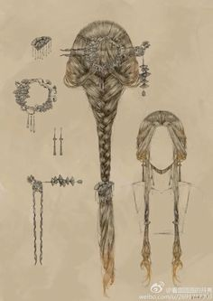 Character Inspiration, Character Art, Hair Inspiration, Art Sketches, Art Drawings, Medieval Drawings, Romantic Hairstyles, Fashion Hairstyles, Fairy Hairstyles