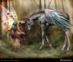 Brutaliton...Matted Print... Beautiful Fairy by mysticmoonmedia