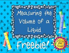 Having a hard time finding assessments for measuring the volume of a liquid? I always pair this assessment with real, hands-on practice in the classroom. I've also used it to introduce this topic with the assessment first so the students know how to read the graduated cylinders before you give them one with water in it.  Enjoy this FREEBIE!