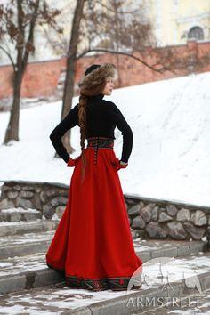 "Original wool skirt ""Russion Season """
