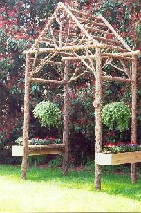 images about Arbors on Pinterest Rustic arbor