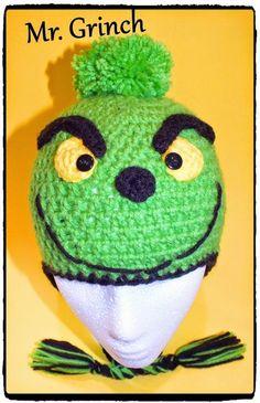 (4) Name: 'Crocheting : Free Crochet Snowman Grinch Blue Hat Pat
