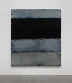 Sean Scully 2014 Landlines Black And Blue oil on aluminium