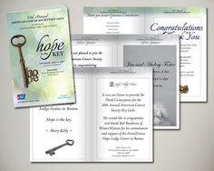 2105 American Cancer Society Boston Key Gala to benefit the AstraZeneca Hope Lodge Center in Boston program book design