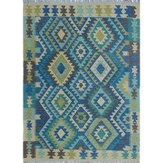 This Vallejo Kilim Hand Woven Wool Blue/Gray Area Rug is flat-woven by skilled artisans. Because of each rug's handmade nature, no two are exactly alike and quantities are limited. To extend the life of this rug. They recommend to always use a rug pad.
