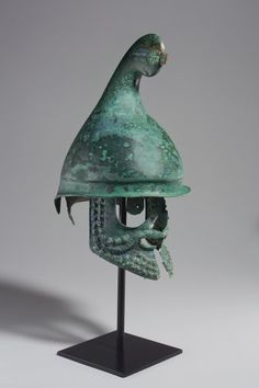 Antiques : A GREEK BRONZE PHRYGIAN HELMET  | LATE CLASSICAL TO EARLY HELLENISTIC PERIOD, CIRCA 350-300 B.C.  Christie's Antiquities Sale  http://www.christies.com/