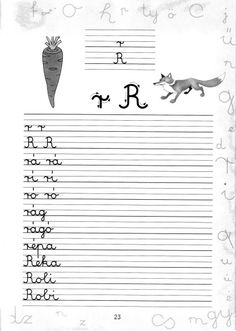Írott betűk - kisferenc.qwqw.hu Cursive, Grammar, Cool Kids, Worksheets, Coloring Pages, Sheet Music, Literature, Teacher, Math Equations