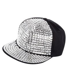 4660bd0fd11 Flat Peak Caps · Silver Stud Flat Peak Cap Teen Guy Fashion