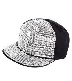 Silver Stud Flat Peak Cap Teen Guy Fashion 650b8b0d5a52