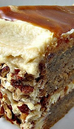 Apple Spice Layer Cake with Caramel Swirl Icing