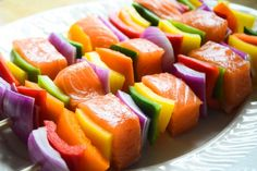 15 Awesome Summer Kebab Recipes - The Ramblings of an Aspiring Small Town Girl Grilled Fish Recipes, Healthy Grilling Recipes, Kebab Recipes, Healthy Soy Sauce, Fajita Spices, Salmon Skewers, Clean Eating, Healthy Eating, Rainbow Food
