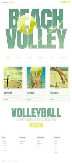 #BeachVolleyBall #Joomla theme. $75. #responsiveDesign