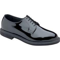 Thorogood Womens Poromeric Oxford Black Patent Uniform Shoes