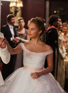 Alicia Vikander as Kitty in Anna Karenina (2012). Inspiration for Natalie's opera dress.