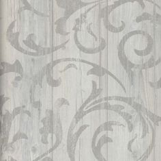 Vlies-Tapete-Antik-Holz-rustikal-Ornament-Muster-Barock-grau-beige-braun-grau