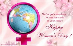 You've got everything... to take the world in your stride! Happy Women's Day!