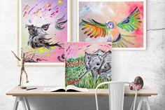 Pink wind hugs little yorkshire terrier - In-context view (studio)