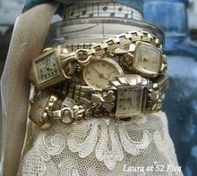 reminds me of my Grans and my Mother's old watches.  i love these.