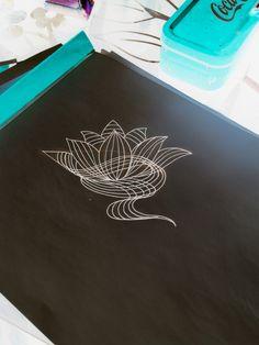 Tattoo sketch #geometric tattoo #tattoo idea # lotus flower tattoo