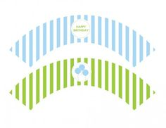 free printables boy birthday cupcake wrappers blue green