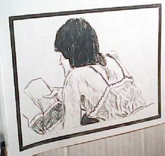 She reading. Pencil on Paper. Chuck Boyer