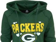 Buy Green Bay Packers 5th and Ocean NFL Womens Brushed Fleece Pullover Hoodie Hoodies Apparel and other Green Bay Packers products at Lids.com