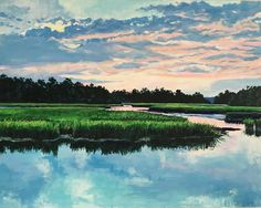 Sunset on the Stono I Elise Nuckols Art | Charleston, SC