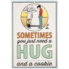 Hug & Cookie Family Circus Embossed Tin Sign