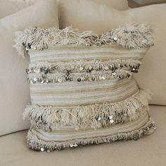 Morrocan Handira Lines Cushion Moroccan Home Decor, Moroccan Design, Moroccan Style, Moroccan Wedding Blanket, Deco Boheme, Wedding Pillows, Interiors Online, Soft Furnishings, Home Decor Inspiration