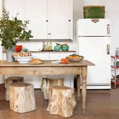Country kitchen from Country Living magazine- this kitchen has an amazing pantry as well Rustic Kitchen, Country Kitchen, Kitchen Dining, Dining Table, Earthy Kitchen, Kitchen Stools, Wooden Kitchen, Kitchen Redo, Dining Set