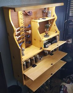 Items similar to Handmade Lighted Tobacco Pipe Rack Cabinet on Etsy Wooden Tobacco Pipes, Wooden Smoking Pipes, Tobacco Pipe Smoking, Fly Tying Desk, Smoking Effects, Pipe Rack, Pipes And Cigars, Coffee And Books, Display Case