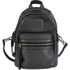 Marc by Marc Jacobs Shoulder Bags (€138) ❤ liked on Polyvore featuring bags, handbags, shoulder bags, grey, crossbody purse, cross shoulder bag, gray leather handbag, leather shoulder handbags and grey leather purse
