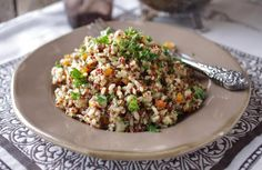 Red & Black Pilaf with Brown Rice