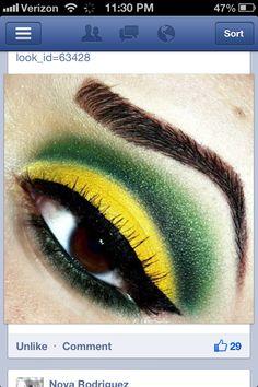 #Jamaica #Reggae #makeup.