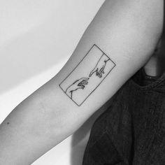 Michelangelo's Sistine Chapel on @meesharaczova   Thank you:)  #tattoo#sistinechapel#handtattoo#minimaltattoo#minimalistictattoo#framedtattoo#illustration#blackwork#blackworktattoo#simpletattoo