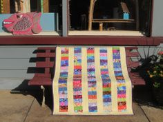 Kaffe Fassett Collective Coin Quilt by QuiltArtStudio on Etsy