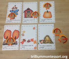 Where's the turkey preposition game (and huge list of free November themed printables)