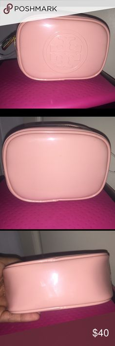 Authentic Tory Burch pouch Never been used. No marks or scratches. Perfect for your makeup or jewelry. Tory Burch Bags