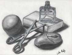 Still Life Drawing by Luke Boly