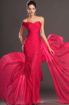 Robes de soirée rouges longues
