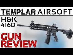 So here I have the first of a series of videos looking at the Templar teams gear and guns. This is the H&K 416 D made by Umarex/VFC under licence from Heckler &