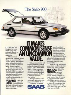 Original Saab Print Advertisement For The 1985 Saab 900 Turbo Retro Advertising, Vintage Advertisements, Vintage Ads, Saab 900, Volvo, Saab Models, Car Brochure, Vw Cars, Station Wagon