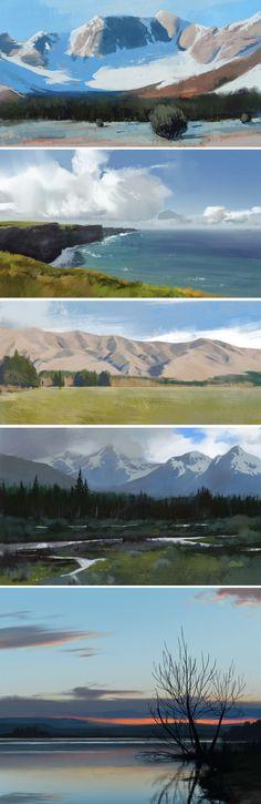 Landscape studies by JeremyPaillotin.deviantart.com on @DeviantArt