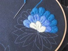 Photo on blog not in English. of wool embroidery on jackets beautiful!! embroidery