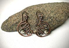 Mixed Metal Wirework Earrings by Dreswireddesigns on Etsy