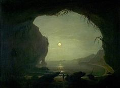A Cavern, Moonlight by Joseph Wright of Derby (after)