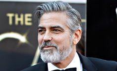 George clooney beard | Although George Clooney quips that his new beard makes him look old ...